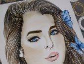 هدية تشارك بمجموعة من رسوماتها وتؤكد : أحلم أكون رسامة مشهورة