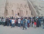 تعامد الشمس على وجه تمثال رمسيس الثانى بمعبد أبو سمبل