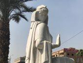 الثقافة تصلح ما أفسده الحى.. تمثال الفلاحة يعود لشكله الطبيعى من جديد.. صور