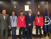 وزير الداخلية يكرم لاعبى اتحاد الشرطة الفائزين بالميدليات الأفريقية والعربية