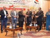 جامعة عين شمس تكرم اللواء طيار نصر موسى باحتفالات نصر أكتوبر