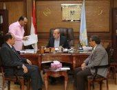 بروتوكول تعاون بين كفر الشيخ والسكة الحديد لإقامة محلات المعرض الجديد