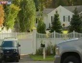 أول مشاهد من محيط منزل هيلارى كينتون بعد إرسال طرد مشبوه إلى مقر إقامتها