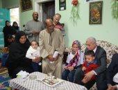 محافظ المنوفية يقدم واجب العزاء لأسرة معلم توفى داخل مدرسة كفر الباجور