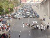مصرع شاب وفتاه بسبب سقوط سيارة من أعلى كوبرى أكتوبر بمدينة نصر
