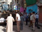 إزالة 293 حالة اشغالات وتحرير 35 محضر بيئة بمدينة ناصر شمال بنى سويف