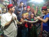 أطفال الصعيد والدلتا يحتفلون بمولد الدسوقي بالملابس البدوية