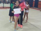طفلة من كفر الشيخ تحصل على المركز الثاني ببطولة الجمهورية للجمباز