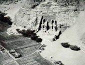 صورة نادرة من الجو لمعبد أبوسمبل عام 1928