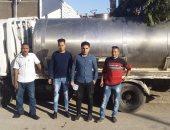 ضبط سيارة تحمل 1500 لتر لبن غير صالح للاستخدام الآدمى ببني سويف