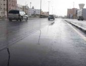 سقوط أمطار غزيرة فى مراكز محافظة المنيا