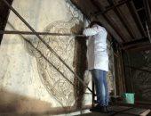 أعمال ترميم مسجد الماردانى فى الدرب الأحمر