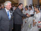 محافظ الإسكندرية يشهد حفل زفاف جماعى لـ 100 عريس وعروس من الأيتام