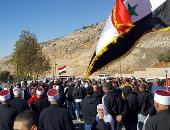 سوريون يعتصون فى الجولان المحتل رفضا لاجراء الانتخابات المحلية الإسرائيلية