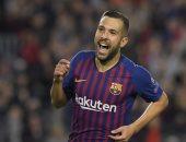 ألبا يعود إلى برشلونة ضد إيبار بالدورى الإسبانى
