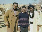 صورة نادرة للشقيقين حمدى وعبد الله غيث من كواليس تصوير فيلم الرسالة