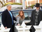 """ترامب وميلانيا يقدمان التعازى لضحايا المعبد اليهودى """"شجرة الحياة"""""""