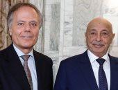 رئيس البرلمان الليبى يبحث مع المسؤولين الإيطاليين مستجدات الأوضاع فى ليبيا