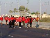 احتشاد جماهير الأهلى فى استاد برج العرب لتشجيع الأحمر أمام الترجى