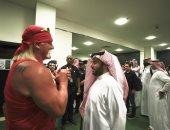 """تركى آل الشيخ يشهد افتتاح بطولة """"كروان جول"""" للمصارعة بالرياض.. صور"""