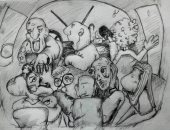 قارئة تشارك بموهبتها فى رسم الكاريكاتير.. وتؤكد: يوصل القضايا فى أبسط صورة