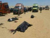 وفد من الفنانين يزور مصابى حادث المنيا الإرهابى فى مستشفى الشيخ زايد