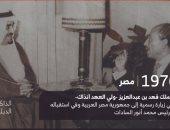 معلومة × صورة.. اعرف حكاية لقاء الملك فهد بن عبدالعزيز والسادات منذ 42 سنة