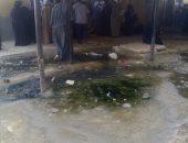 مياه المجارى تحاصر سجل مدنى إسنا فى الأقصر منذ 10 سنوات