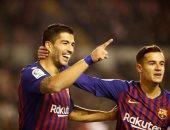 سواريز يقود برشلونة لاسقاط رايو فاليكانو فى الوقت القاتل.. فيديو