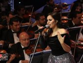 سوما تحيى فاصل غنائى فى الليلة الثانية من مهرجان الموسيقى العربية