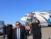 مطار شرم الشيخ يستقبل الوفود المشاركة في منتدى شباب العالم