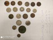 صور.. ضبط 324 عملة معدنية أثرية من العصر العثمانى بمطار القاهرة