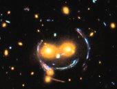 تلسكوب هابل الفضائى ينشر صورة لوجه مبتسم فى الفضاء