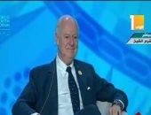فيديو.. دى ميستورا: إدماج السوريين هو الحل الوحيد للسلام وإنهاء الحرب