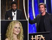 هيو جاكمان ونيكول كيدمان نجوم حفل توزيع جوائز هوليوود للأفلام