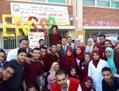 صور.. نائب رئيس جامعة أسيوط يفتتح حملة 100 مليون صحة بكلية التمريض