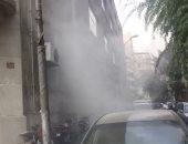 حريق بالمبنى اليونانى التابع للجامعة الأمريكية بالتحرير