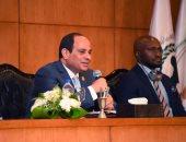 الرئيس السيسي: لا يمكن قبول أى دور للميليشيات المسلحة فى دول النزاعات