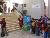 صور.. مكتبة مصر الجديدة تشارك فى حملة توعية بالأسمرات عن حماية شبكات الصرف