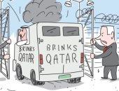 شاهد.. كاريكاتير إسرائيلى يفضح التعاون بين إسرائيل وقطر