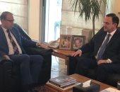 وزير السياحة اللبنانى يزور السفير المصرى ويؤكد احترامه وحرصه على علاقات البلدين