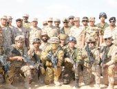الفريق محمد فريد يتفقد القوات العربية المشاركة فى تدريبات ( درع العرب -1)