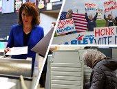 """صور.. الأمريكيون يواصلون الإدلاء بأصواتهم لاختيار ممثليهم بالكونجرس.. ترامب يواصل المهرجانات الانتخابية تحت شعار """"لنجعل أمريكا عظيمه"""".. أصوات النساء تثير مخاوف الجمهوريين.. وأمريكا قد تواجه كونجرس منقسم فى 2019"""