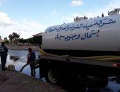 صور .. لليوم الثالث سقوط الأمطار على  محافظة شمال سيناء ومجالس المدن تواصل فتح الطرق