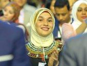 صور..شايفين الأمل بقلبهم.. ابتسامة فتيات ضريرات تكمل نجاح منتدى شباب العالم