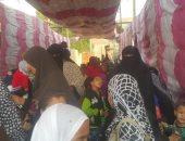 """صور.. """"التضامن"""" تنظم قافلة طبية للكشف على 1200 طفل بالصف فى الجيزة"""