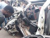 توقف حركة المرور بالطريق الصحراوى الشرقى بسبب حادث تصادم وإصابة4أشخاص
