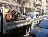 أمن الجيزة يعيد الانضباط بحملة على شارع زغلول فى الهرم