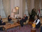 """""""شكرى"""" يستقبل مجموعة الصداقة البرلمانية المصرية البريطانية قبيل زيارتهم للندن"""
