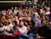 لبلبة وأحمد كمال وتامر محسن فى افتتاح الدورة الـ11 لبانوراما الفيلم الأوروبى